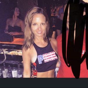 VS bikini top of American flag